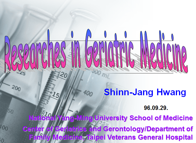 Research in Geriatric Medicine